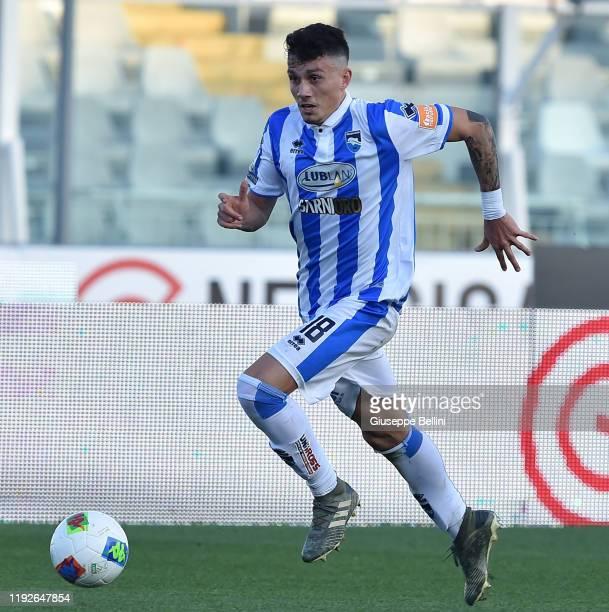 Davide Bettella of Pescara Calcio in action during the Serie B match between Pescara Calcio and Venezia FC at Adriatico Stadium on December 7, 2019...