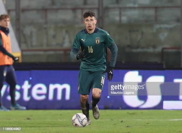 Davide Bettellaof Italy during the UEFA U21 European Championship Qualifier match between Italy and Armenia at Stadio Angelo Massimino on November 19...