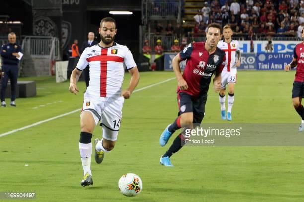 Davide Biraschi of Genoa in action during the Serie A match between Cagliari Calcio and Genoa CFC at Sardegna Arena on September 20 2019 in Cagliari...