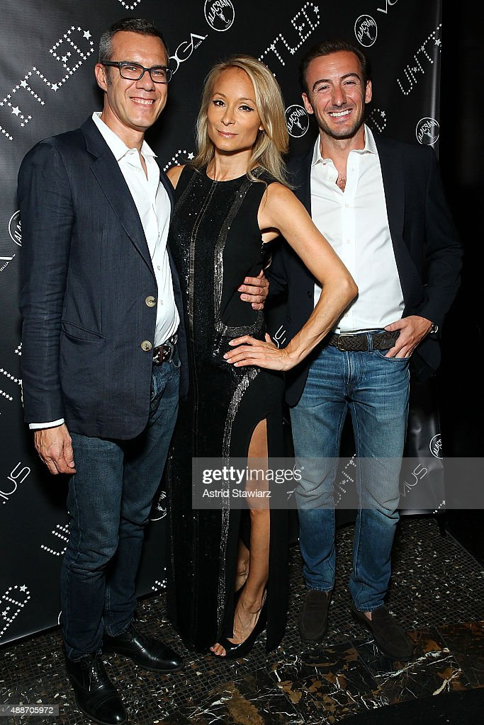 Davide Bolis, Indira Cesarine and Giovanni Masoni attend The Untitled Magazine Celebrates The #GirlPower Issue at Haus on September 16, 2015 in New York City.