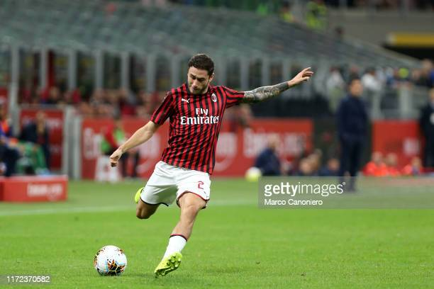 Davide Calabria of Ac Milan in action during the Serie A match between Ac Milan and Acf Fiorentina Acf Fiorentina wins 31 over Ac Milan