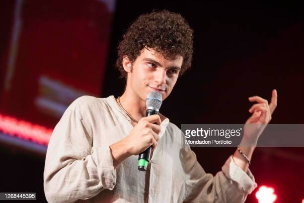 Davide Calgaro one of the protagonists of the Netflix film Under the sun of Riccione surprise guests on the stage of Deejay On Stage for the...