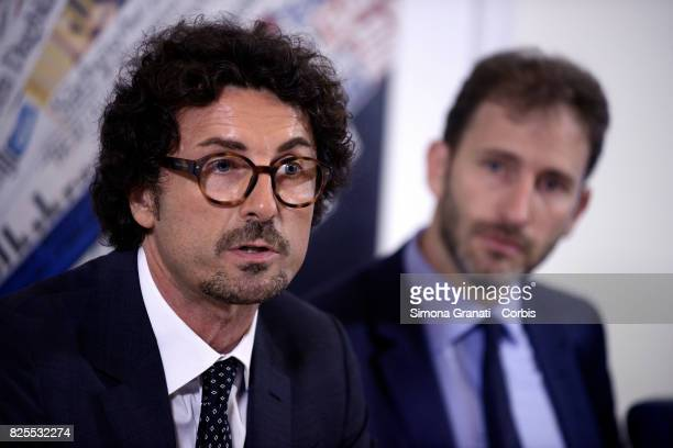 Davide Casaleggio And Danilo Toninelli Present New Version Of The Rousseau Platform To Foreign Media on August 2 2017 in Rome Italy