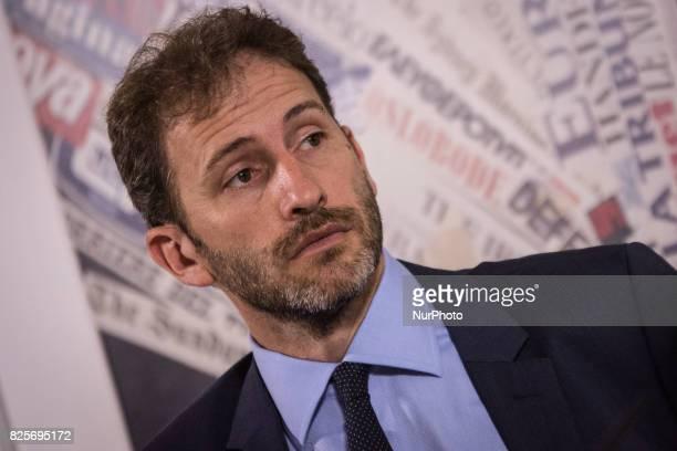 Davide CasaleggioDavide Casaleggio during a press conference in Rome on August 2 2017 Italy's antiestablishment Five Movement party Davide Casaleggio...