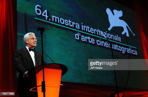 Davide Croff president of the Venice Biennale during the opening ceremony and the Atonement Premiere on Day 1 of the 64th Annual Venice Film Festival...