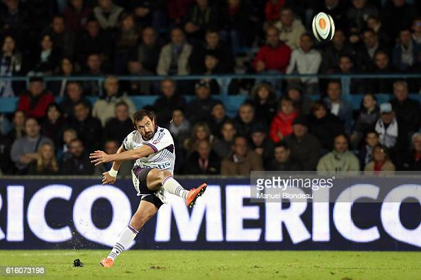 Davide Duca of Angouleme during the Pro D2 match between Agen and Soyaux Angouleme on October 21 2016 in Agen France