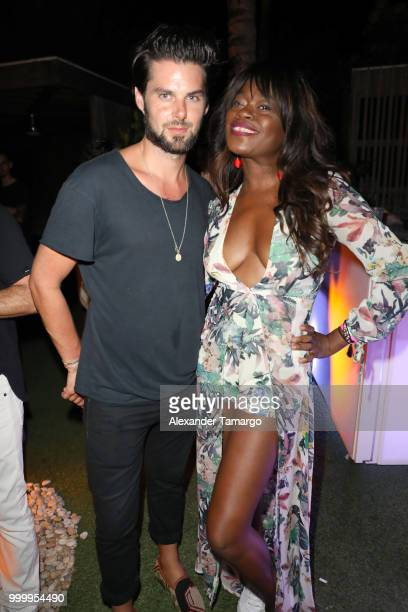 Ric Sarille Tayo Otiti and Conner Vernon attend the 2018 Sports Illustrated Swimsuit party at PARAISO during Miami Swim Week at The W Hotel South...