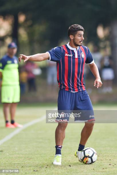 Davide Faraoni defender of FC Crotone during a friendly with a local representative in the retreat of Moccone in Sila