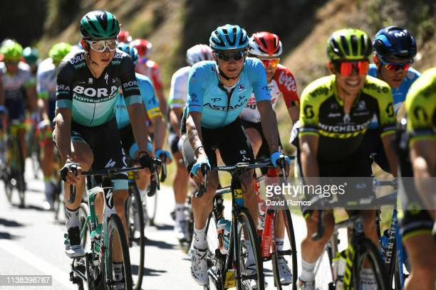 Davide Formolo of Italy and Team Bora - Hansgrohe / Andrey Zeits of Kazahkstan and Astana Pro Team / during the 99th Volta Ciclista a Catalunya 2019,...
