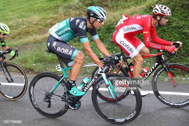 Davide Formolo of Italy and Team Bora - Hansgrohe / Jesus Herrada of Spain and Team Cofidis / during the 73rd Tour of Spain 2018, Stage 12 a 181,1km...