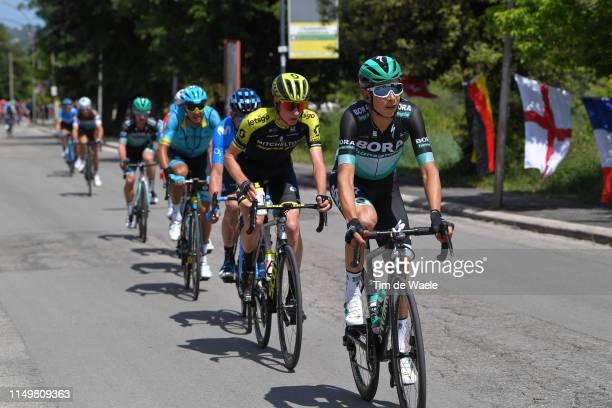 Davide Formolo of Italy and Team Bora - Hansgrohe / Lucas Hamilton of Australia and Team Mitchelton - Scott / during the 102nd Giro d'Italia 2019,...
