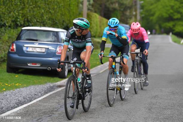 Davide Formolo of Italy and Team BoraHansgrohe / Jakob Fuglsang of Denmark and Astana Pro Team / Michael Woods of Canada and Team EF Education First...