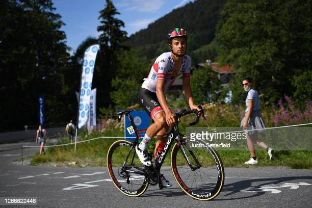 Davide Formolo of Italy and Team UAE Team Emirates / during the 72nd Criterium du Dauphine 2020, Stage 5 a 153,5km stage from Megeve to Megeve 1458m...