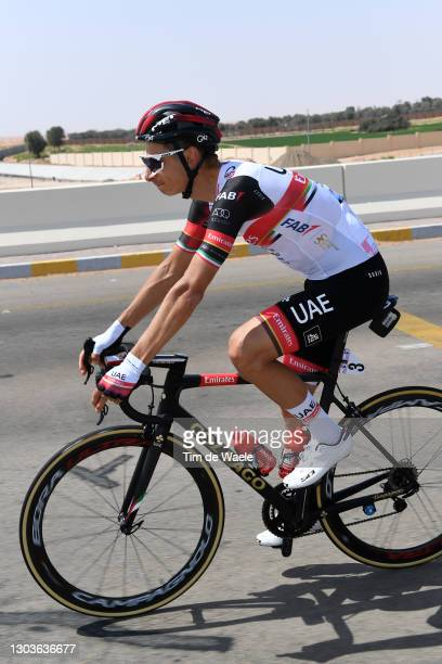 Davide Formolo of Italy and UAE Team Emirates during the 3rd UAE Tour 2021, Stage 3 a 166km stage from Al Ain - Strata Manufacturing to Jebel Hafeet...