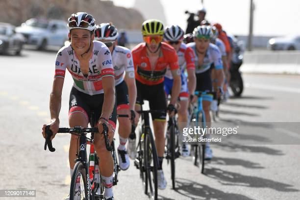 Davide Formolo of Italy and UAE Team Emirates / Tadej Pogacar of Slovenia and UAE Team Emirates / Adam Yates of The United Kingdom and Team...