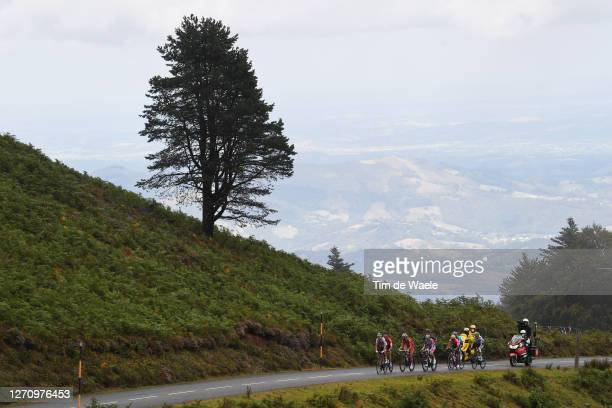 Davide Formolo of Italy and UAE Team Emirates / Warren Barguil of France and Team Arkea - Samsic / Sebastien Reichenbach of Switzerland and Team...