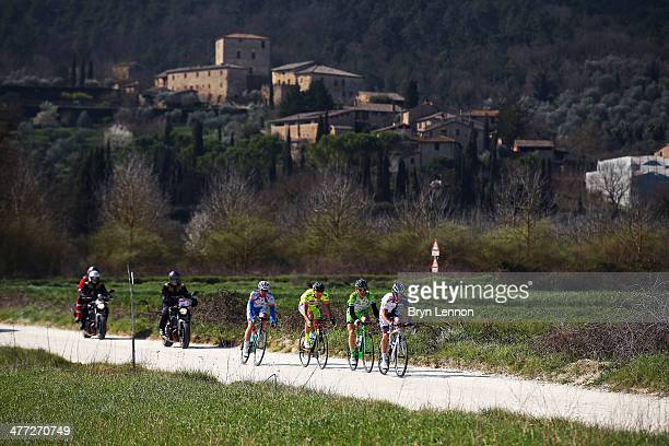 Davide Frattini of Italy and UnitedHealthcare Professional leads the early breakaway group of Angelo Pagani of Italy and the BardianiCSF team Andrea...