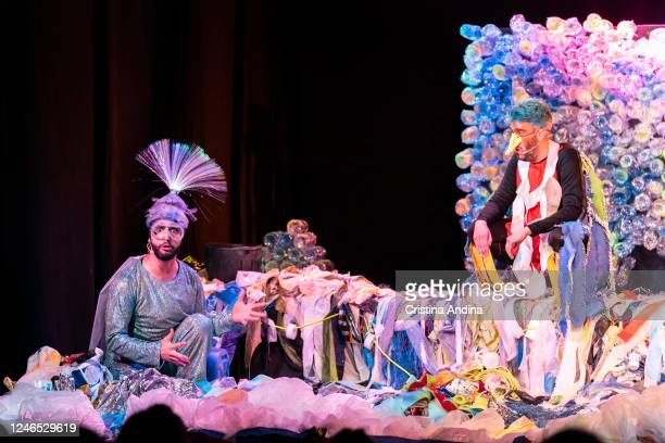 Davide González and Tone Martínez from the Galeteatro theatre company perform in Carabela written by Paula Carballeira and directed by Davide...