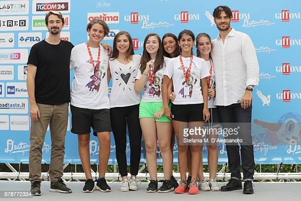 Davide Iacopini and Giulio Berruti attend the Giffoni Film Festival photocall on July 22 2016 in Giffoni Valle Piana Italy