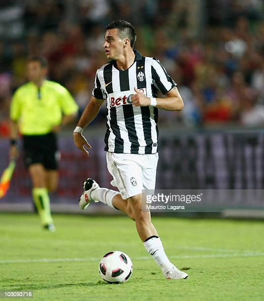 Davide Lanzafame of Juventus FC in action during the pre season friendly match between Juventus FC and Olimpic Lyon at Stadio San Vito on July 24...