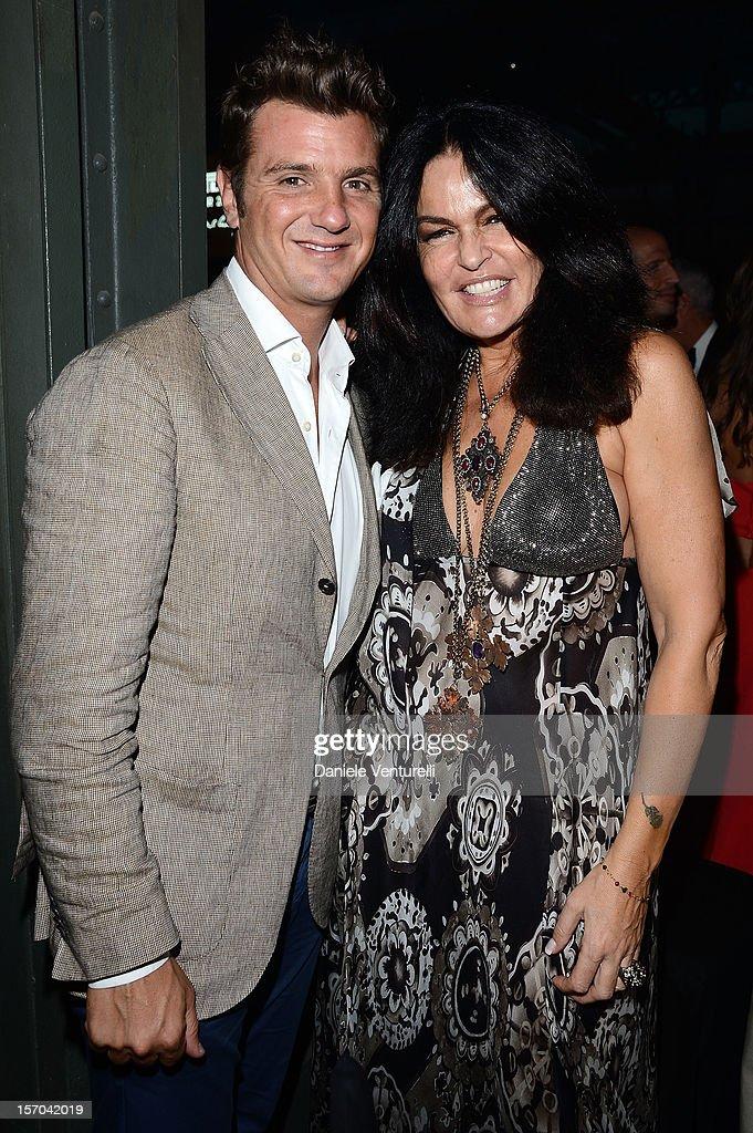 Davide Lippi and Cristina Ferrari attend the '2013 Pirelli Calendar Unveiling' on November 27, 2012 in Rio de Janeiro, Brazil.