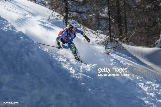 Davide Magnini in action during Italian Team Ski Mountaineering Championships on February 14, 2021 in ALBOSAGGIA, Italy.