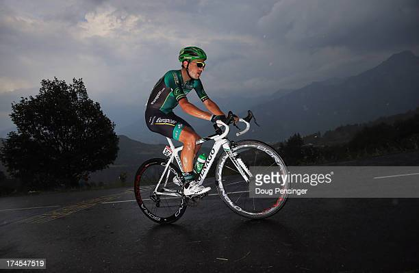 Davide Malacarne of Italy riding for Europcar competes during stage seventeen of the 2013 Tour de France, a 32KM Individual Time Trial from Embrun to...