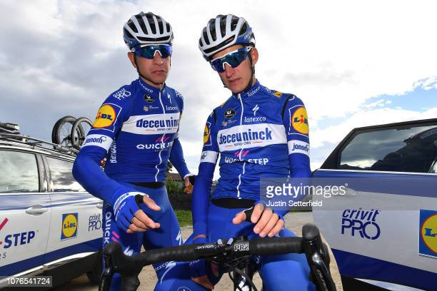 Davide Martinelli of Italy and Deceuninck QuickStep Team / Mikkel Frolich Honoré of Denmark and Deceuninck QuickStep Team / during the Team...
