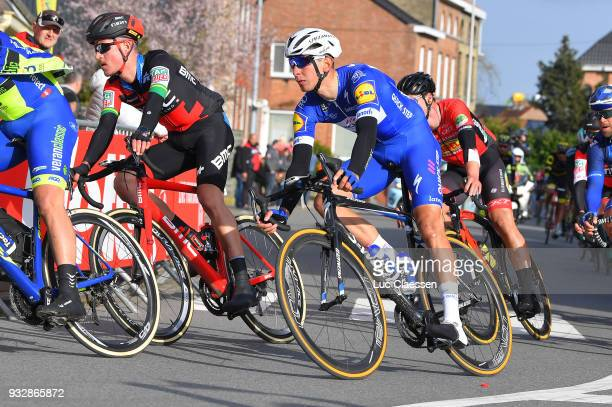 Davide Martinelli of Italy and Team QuickStep Floors / Miles Scotson of Australia and BMC Racing Team / Peloton / during the 16th Handzame Classic...