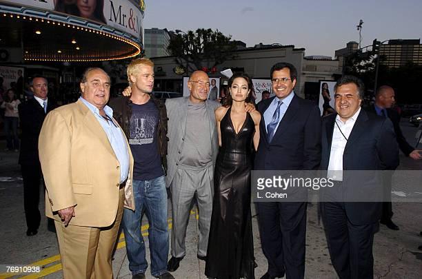 Davide Matalon of Regency Enterprises, Brad Pitt, Arnon Milchan, producer, Angelina Jolie, Peter Chrernin, president/COO of News Corp. And Jim...