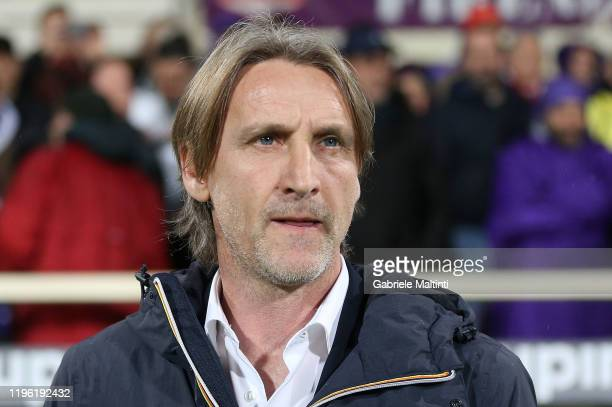 Davide Nicola manager of Genoa CFC looks on during the Serie A match between ACF Fiorentina and Genoa CFC at Stadio Artemio Franchi on January 25,...