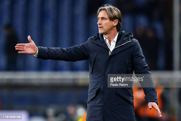 Davide Nicola, new head coach of Genoa CFC during the Serie A match between Genoa CFC and US Sassuolo at Stadio Luigi Ferraris on January 5, 2020 in...