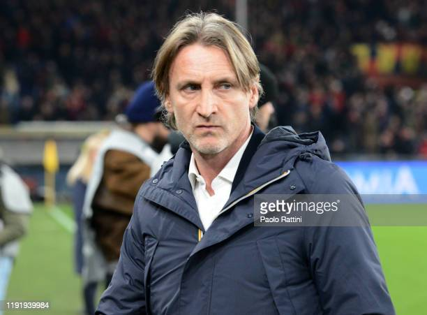 Davide Nicola new head coach of Genoa CFC looks on during the Serie A match between Genoa CFC and US Sassuolo at Stadio Luigi Ferraris on January 5,...