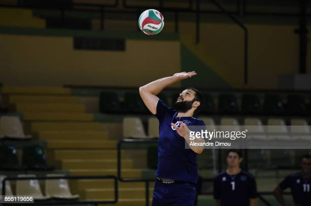 Davide Saitta of Montpellier during the Volleyball friendly match on September 22 2017 in Montpellier France