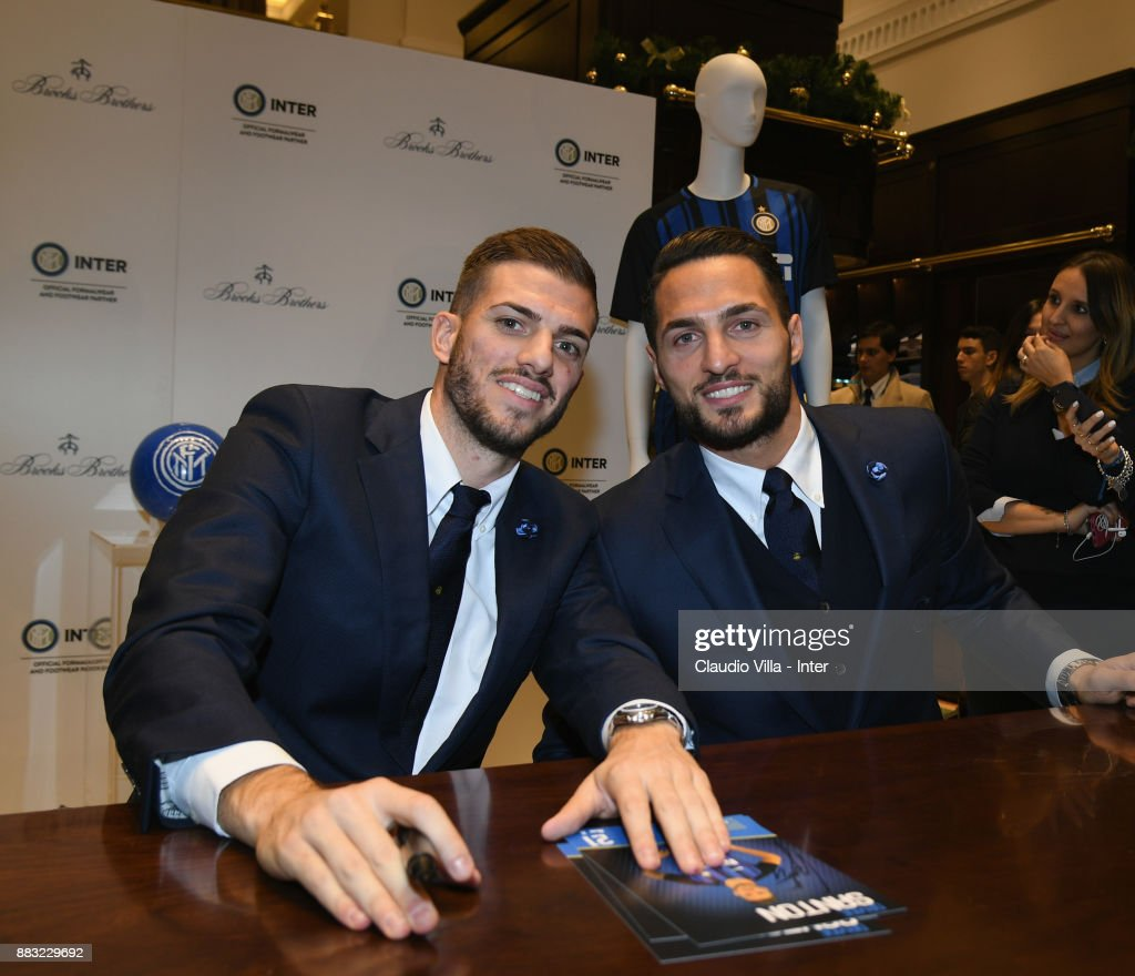 FC Internazionale Team Visit Brooks Brother Store