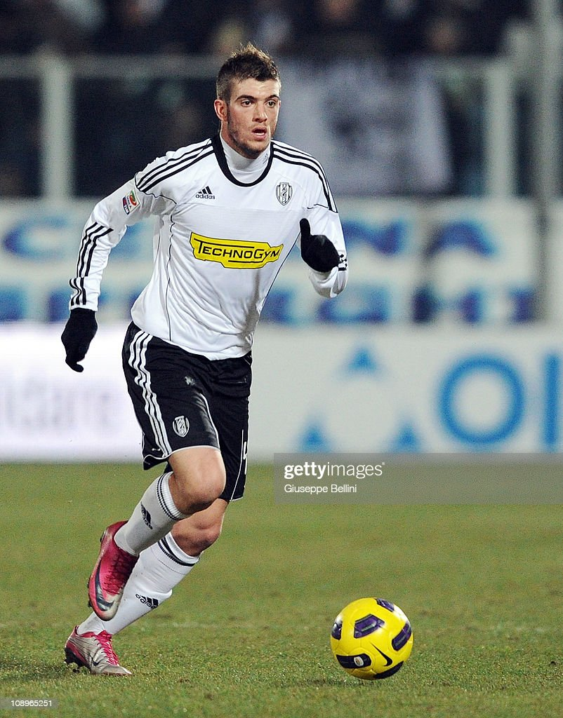 Davide Santon of Cesena in action during the Serie A match ...