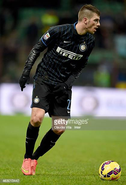 Davide Santon of FC Internazionale in action during the Serie A match between FC Internazionale Milano and US Citta di Palermo at Stadio Giuseppe...