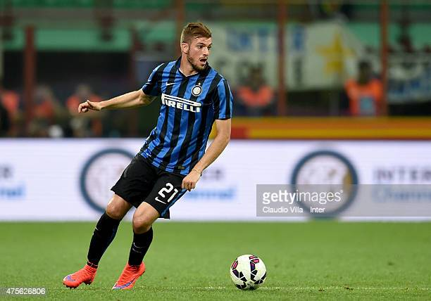 Davide Santon of FC Internazionale in action during the Serie A match between FC Internazionale Milano and Empoli FC at Stadio Giuseppe Meazza on May...