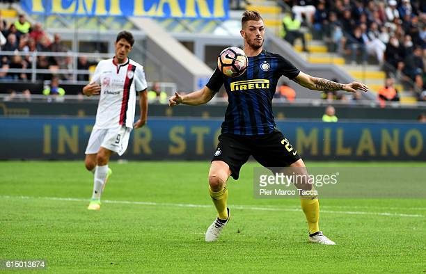 Davide Santon of FC Internazionale in action during the Serie A match between FC Internazionale and Cagliari Calcio at Stadio Giuseppe Meazza on...