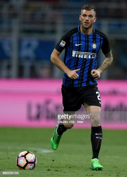 Davide Santon of FC Internazionale in action during the Serie A match between FC Internazionale and Udinese Calcio at Stadio Giuseppe Meazza on May...