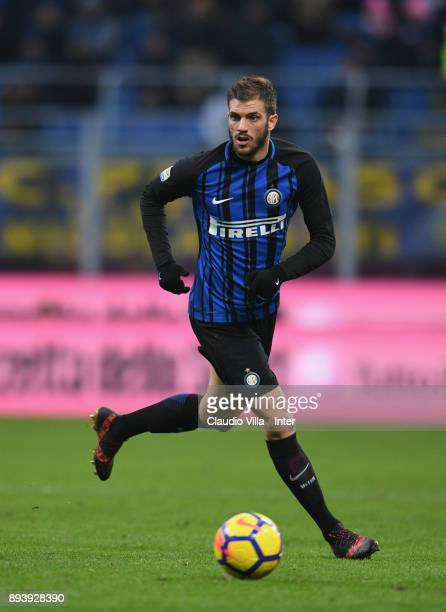 Davide Santon of FC Internazionale in action during the Serie A match between FC Internazionale and Udinese Calcio at Stadio Giuseppe Meazza on...