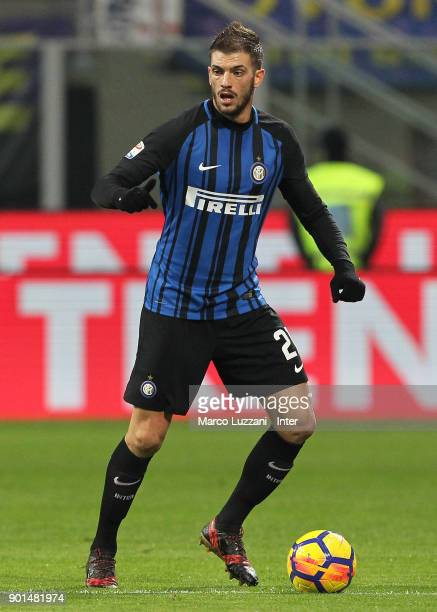 Davide Santon of FC Internazionale in action during the serie A match between FC Internazionale and SS Lazio at Stadio Giuseppe Meazza on December 30...
