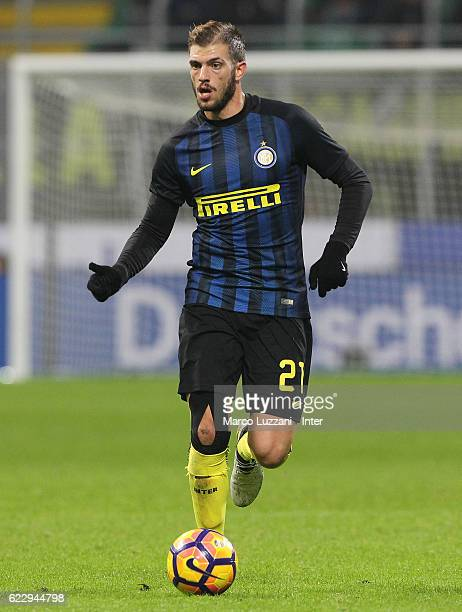 Davide Santon of FC Internazionale Milano in action during the Serie A match between FC Internazionale and FC Crotone at Stadio Giuseppe Meazza on...