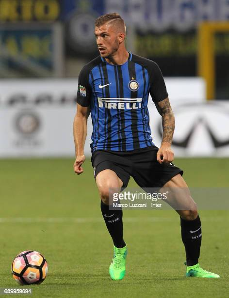 Davide Santon of FC Internazionale Milano in action during the Serie A match between FC Internazionale and Udinese Calcio at Stadio Giuseppe Meazza...