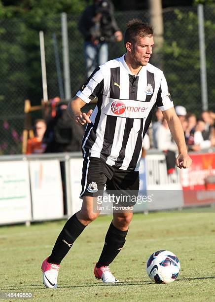 Davide Santon of Newcastle United during a pre season friendly match between Newcastle United and AS Monaco at the HackerPschorr Sports Park on July...
