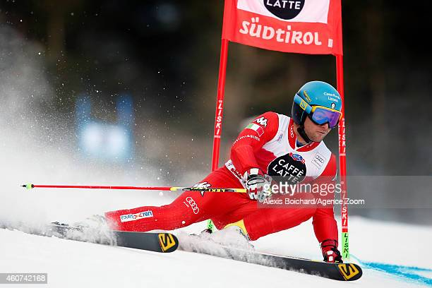 Davide Simoncelli of Italy competes during the Audi FIS Alpine Ski World Cup Men's Giant Slalom on December 21 2014 in Alta Badia Italy