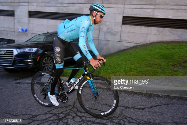 Davide Villella of Italy and Astana Pro Team / during the 10th Grand Prix Cycliste de Montreal Quebec 2019 Training / @GPCQM / #10YearsOfGPCQM / on...