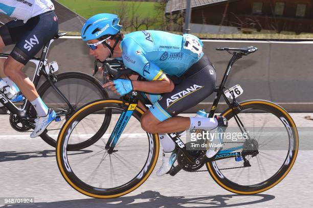 Davide Villella of Italy and Astana Pro Team / during the 42nd Tour of the Alps 2018 Stage 4 a 1344km stage from Chiusa/Klausen to Lienz on April 19...