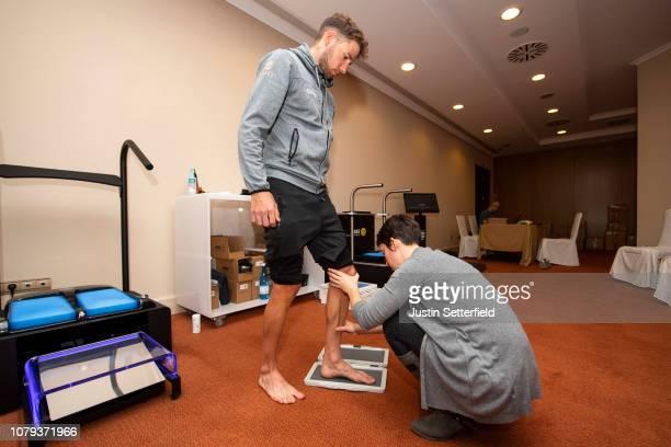 Davide Villella of Italy and Astana Pro Team / Sidas Insoles / Feet / Chiropodist / on December 18 2018 in Altea Spain