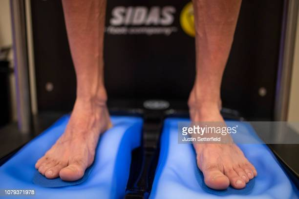 Davide Villella of Italy and Astana Pro Team / Sidas Insoles / Feet / Detail view / on December 18 2018 in Altea Spain